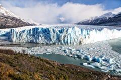 Blue ice glacial in Perito Moreno Glacier Royalty Free Stock Photography