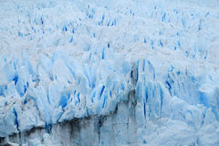 Blue ice glaciar Perito Moreno stock photography