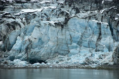 Blue Ice Glacier Bay Closeup Detail Alaska Scene. Scene from Glacier Bay National Park in Alaska. The Alaskan coast in the park has many spectacular glaciers and Stock Image
