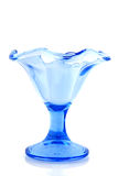 Blue ice glass cup Royalty Free Stock Photos