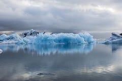 Blue ice at Icelake Jokulsarlon. Iceland Royalty Free Stock Photo