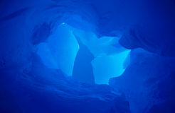 Blue Ice II. The blue sky contrasted against the blue of Antarctic glacial ice Stock Photography
