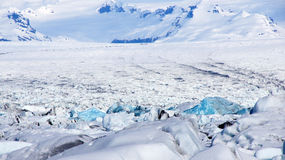 Blue Ice at Jokulsarlon glacier lake in Iceland Stock Photos