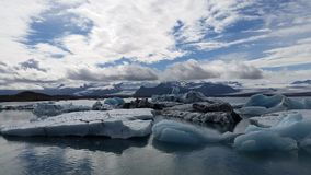 Blue Ice Lagoon Iceland Royalty Free Stock Photos