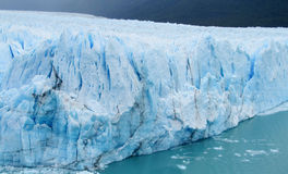 Blue ice patagonian glacier stock images