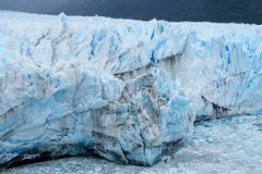 Blue ice patagonian glacier royalty free stock images