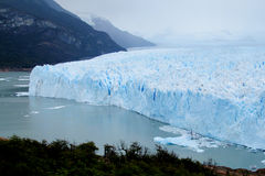 Blue ice patagonian glacier royalty free stock photography