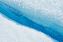 Blue ice of Perito Moreno Glacier, Argentina Royalty Free Stock Image