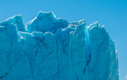 Blue ice of Perito Moreno Glacier, Argentina Royalty Free Stock Images