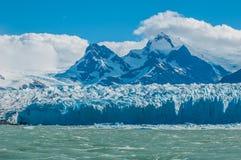 Blue ice of Perito Moreno Glacier, Argentina Royalty Free Stock Photos
