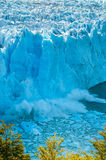 Blue ice of Perito Moreno Glacier, Argentina Royalty Free Stock Photo