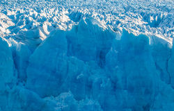 Blue ice of Perito Moreno Glacier, Argentina Stock Photos