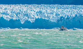 Blue ice of Perito Moreno Glacier, Argentina Stock Images