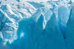 Blue ice of Perito Moreno Glacier, Argentina Royalty Free Stock Photos
