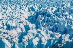Blue ice of Perito Moreno Glacier, Argentina Stock Photo