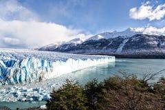 Blue ice in Perito Moreno Glacier, Argentino Lake, Patagonia, Argentina Royalty Free Stock Photos