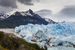 Blue ice Perito Moreno Glacier. Patagonia. Stock Photo