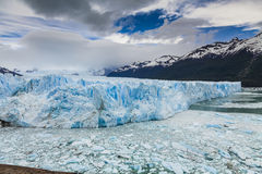 Blue ice Perito Moreno Glacier. Patagonia. royalty free stock photography