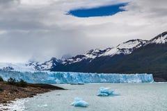 Blue ice Perito Moreno Glacier. Patagonia. Royalty Free Stock Photos