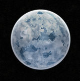 Blue Ice Planet. In Space - Illustration vector illustration