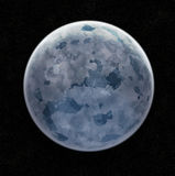 Blue Ice Planet. In Space With Stars - Illustration vector illustration