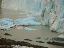 Blue ice ruins. Perito Moreno glacier Stock Image