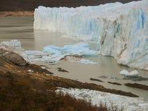 Blue ice ruins. Perito Moreno glacier Royalty Free Stock Photo
