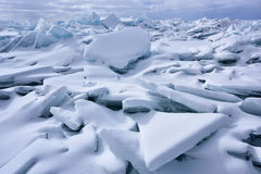 Blue Ice Shards, Lake Michigan Stock Photos