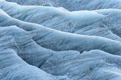Blue ice in the Skaftafellsjokul Royalty Free Stock Images