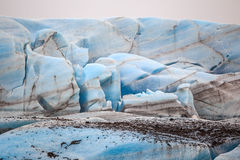 The blue ice of the Skaftafellsjokull glacier  Iceland Stock Image