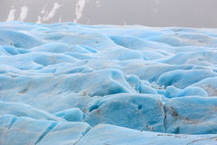 The blue ice of the Skaftafellsjokull glacier  Iceland Royalty Free Stock Image