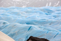 The blue ice of the Skaftafellsjokull glacier  Iceland Stock Photos