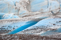 The blue ice of the Skaftafellsjokull glacier  Iceland Stock Images
