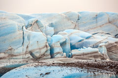The blue ice of the Skaftafellsjokull glacier  Iceland Royalty Free Stock Images