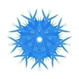 Blue ice snowflake abstract design. Blue ice snowflake abstract symbol design illustration for your creative needs and ideas Stock Photo