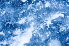 The blue ice surface Royalty Free Stock Image