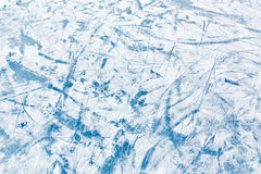 Blue ice surface with scratches Stock Image