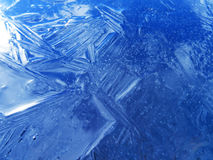Blue ice texture. Royalty Free Stock Images