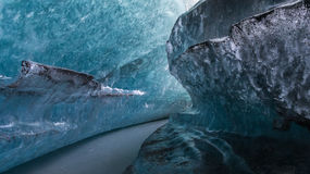 Blue Ice undercut Stock Photography