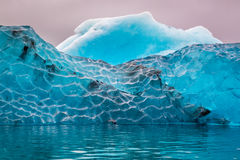 Blue iceberg in cold lake, Iceland Royalty Free Stock Images