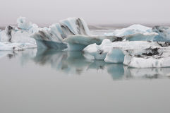 Blue Iceberg. A colorful Icebergs floating in Iceland Royalty Free Stock Image