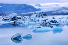 Blue Iceberg at Jokulsarlon Lagoon Iceland Royalty Free Stock Image