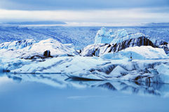 Blue Iceberg at Jokulsarlon Lagoon Iceland Royalty Free Stock Photo