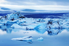 Blue Iceberg at Jokulsarlon Lagoon Iceland Stock Photos