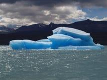 Blue iceberg in Lago Argentino, Calafate. Patagonia, Argentina Stock Photo