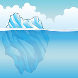 Blue Iceberg Vector Illustration Royalty Free Stock Photography
