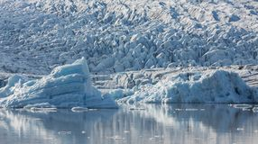 Blue Icebergs And Lagoon Royalty Free Stock Images