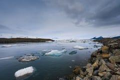 Blue icebergs closeup Royalty Free Stock Photography