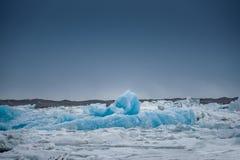 Blue icebergs closeup Royalty Free Stock Photo