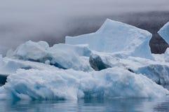 Blue Icebergs in Greenland Stock Photo